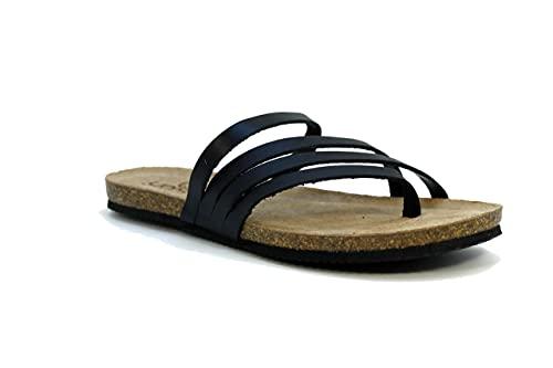 Yokono OASIS Damen-Sandalen mit schmaler Passform, Schwarz , 40 EU