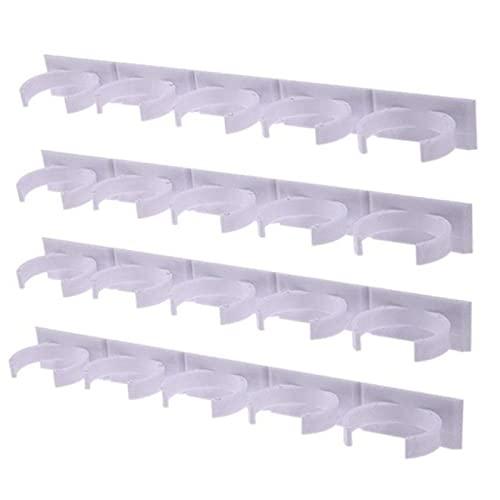 FSSQYLLX Wall Racks 4-Piece Kitchen Storage Rack Wall Mounted Dispensing Perfume Bottle Rack Plastic Clip Rack