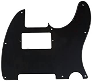 Musiclily 8 Hole Guitar Telecaster Pickguard Humbucker HH Scratch Plate for Fender USA/Mexican Standard Tele Parts, Glossy Black 1Ply