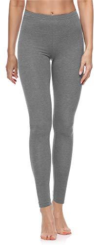 Merry Style Leggings Lunghi Pantaloni Donna MS10-198 (Melange Medio,M)