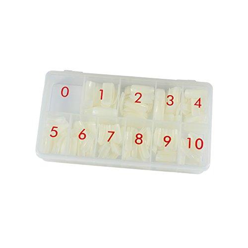 N&BF Classic Nail Tips | Nageltip Sortierbox 500 Stück | Tip Set Natur | Profi Nail Extension flexibel & vielseitig | Made in EU | Kunstnägel in 10 versch. Größen