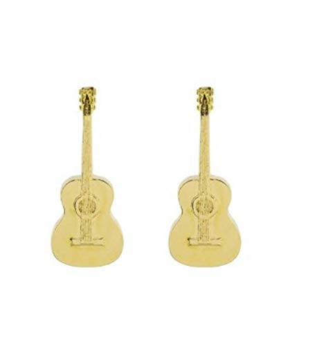 TS para Toroshopping - Ohrringe My Lla Spanische Gitarre - Gold, Einzigartig
