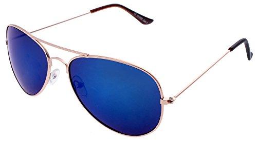 Unbekannt Sonnenbrille in verschiedenen Farbe (One size, Gold Blau)