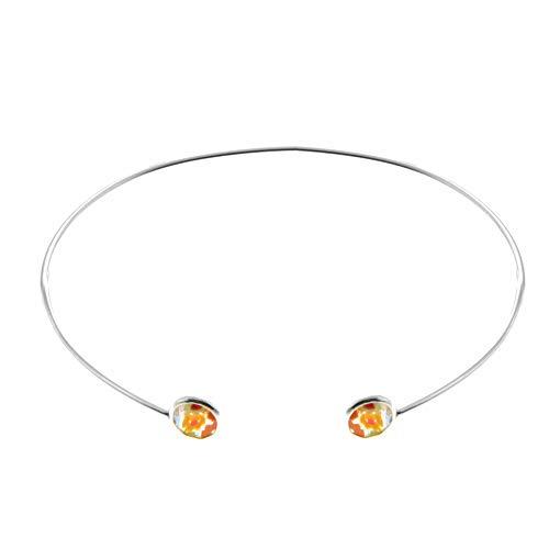 Córdoba Jewels | Pulsera en Plata de ley 925 con diseño Brazalete Duo Murano Silver