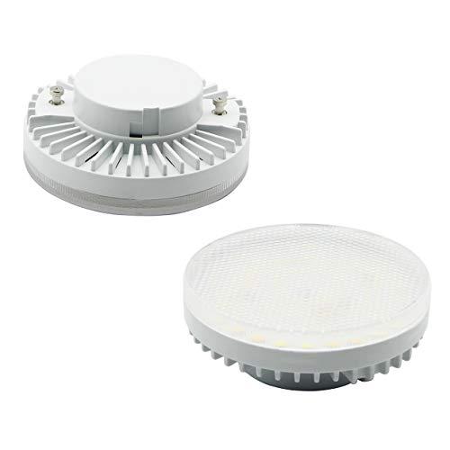 7117 Tricolor GX53 Bombilla LED de 7W, luz blanca cálida 3000k, luz blanca natural 5000k,luz blanca fría 6000k,foco LED 650 lm, luz LED superbrillante AC110-240V, no regulable (paquete de 2)