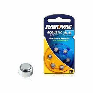 VARTA rayovac acoustic p. 10 pour appareils auditifs (pR70) 6 pack