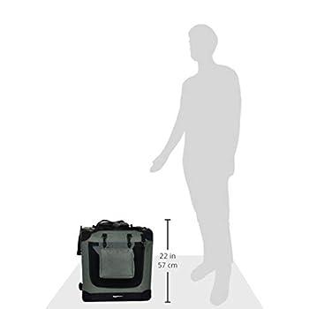 Amazon Basics Panier de transport souple et pliant pour animal de compagnie - 66cm, Gris