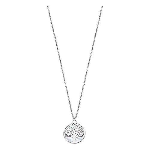 Lotus Silver JLP1678-1-1 - Collar de plata de ley 925 con diseño de árbol de la vida