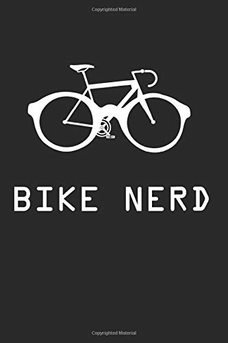 Bike Nerd Notebook: Mountain Bike Dot Grid Journal Or Notebook (6x9 Inches) With 120 Pages