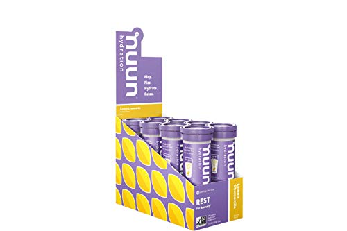 Nuun Rest: Relaxation & Rest Aid Drink Tablets, Lemon Chamomile, Box of 8 Tubes (80 Servings), Muscle Relaxer, Stress Relief, Sleep & Recovery Supplement
