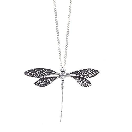 Lily Blanche - Collar de mujer de plata de ley 925 con colgante de libélula en caja de regalo diseñada en Gran Bretaña