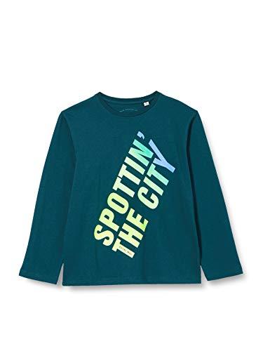 TOM TAILOR Jungen Langarmshirt T-Shirt, deep Teal|Green, 164