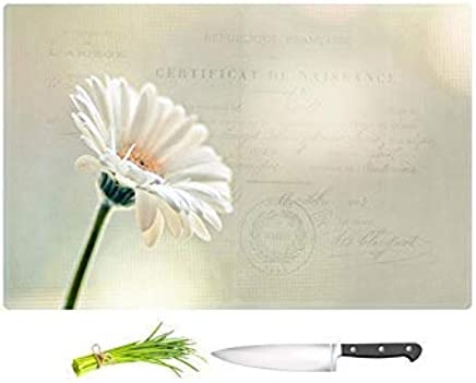 """Large 15\ x 11\ : DiaNoche Designs Kitchen Cutting Boards by Sylvia Cook - Daisy, Large 15"""" x 11"""""""