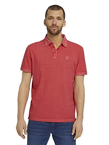 TOM TAILOR Herren 1026022 Basic Poloshirt, 11042-Plain Red, 3XL