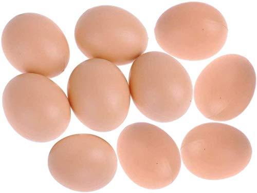 Doyeemei Gallina Pollame Manichino Finto Uovo Pollo Posa Gabbia Gabbia Giocattolo del Nido Plastica Simulazione realistica Uovo Artificiale Fai da Te Pittura di Pasqua Giocattolo per Bambini Cucina