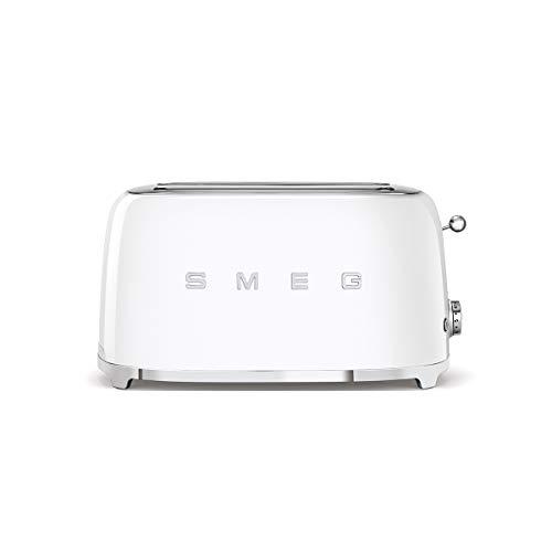 SMEG Tostador TSF02WHEU, 1500 W, Acero, De plástico, 2 Ranuras, blanco