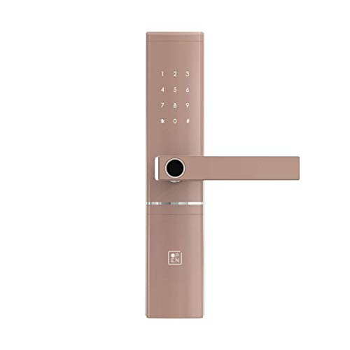 OPEN Door Four Smart Door Lock with 5-Way Unlocking, OTP Time Bound Access, Activity Logs, Fingerprint, Passcode, NFC Card and Emergency Key Access for Home (Rose Gold-Matt Finish)-Right Handed