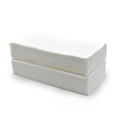 takestop 60 Pezzi Asciugamani Asciugamano in Carta A Secco RIPIEGATI Singoli 40x70 CM USA Getta Goffrata Professionale