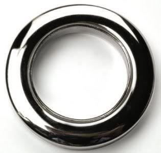 10 x Chrome Rufflette 36mm Jupiter Eyelet Rings