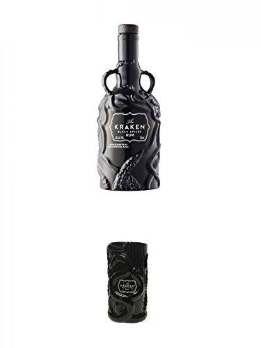 Kraken Black Spiced Rum Ceramic Limited Edition (schwarz) 0,7 Liter + Kraken Rum Keramikbecher