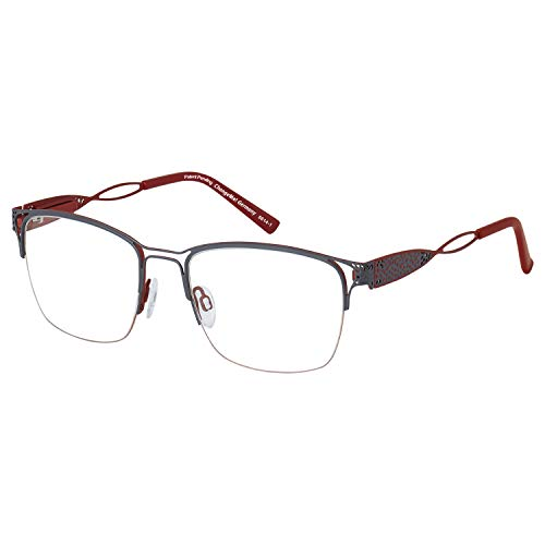 Change Me Brille 2422-1 mit Wechselbügel 8614-1 grau rot