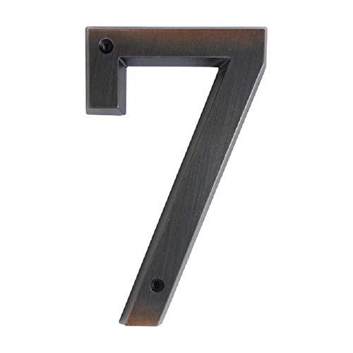 15cm Grande 3D Moderno de la casa de la Puerta número Home números de dirección de Casa Digital Puerta señal al Aire Libre 6 Pulgadas 0-9 Bronce Envejecido (Color : 7)