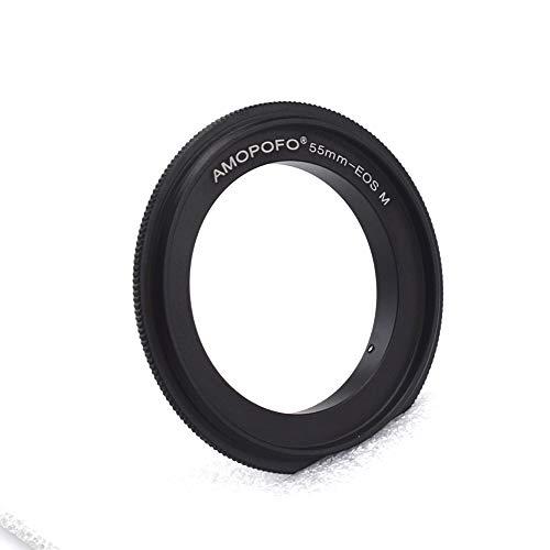 EOS M - Anillo inversor para Canon EOS M Mirroless M1, M2, M3, M10, M50, M6, M5 (55 mm)
