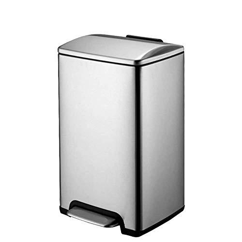 STRAW Papelera Can-Capacidad Adicional de Acero Inoxidable de Basura Paso Puede con la protección del Olor de la Tapa