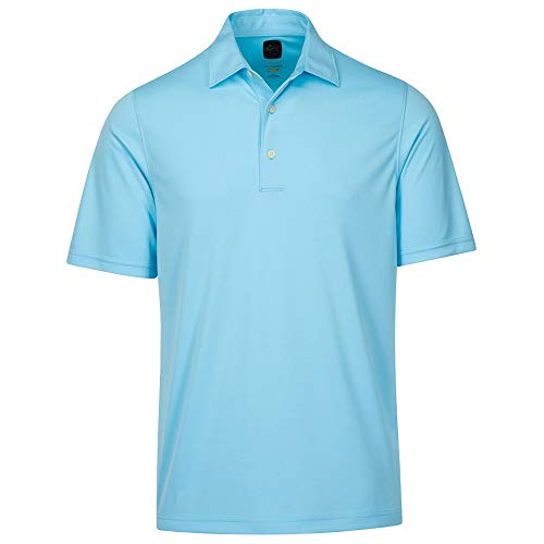 Greg Norman Men's Protek Ml75 Microlux Solid Polo, Sky, X-Large