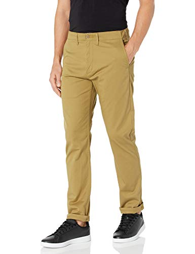 Levi's Men's 502 Regular Taper Fit Pant, British Khaki - Twill Stretch, 33W x 32L