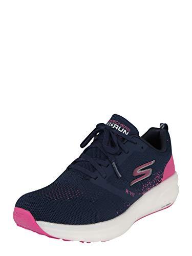 Skechers Women's Go Run Ride 8 Hyper, Navy / Pink, 8.5 B