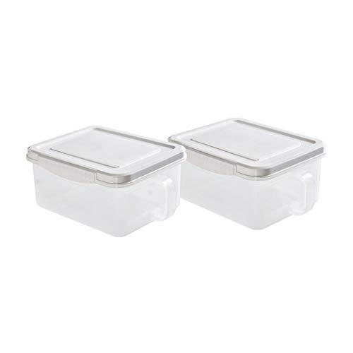 Contenedor de Almacenamiento de Alimentos con Caja de Bloques de Bloqueo de instajos a Prueba de Fugas herméticos para Frutas de Verduras de Carne de Pescado (Color : White)