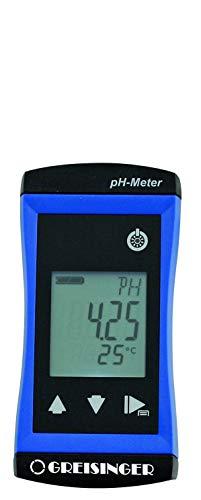 GHM Greisinger Wasserdichtes pH/Redox-Meter mit Pt1000 Eingang und Alarm G1501, Blau