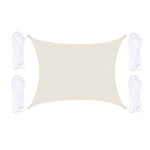 YPYGYB Patio Shack Toldo Vela De Sombra Rectangular, Hdpe Transpirable Y Protección Rayos UV para Exterior, Jardin, Terrazas, Arena,I-2x3M