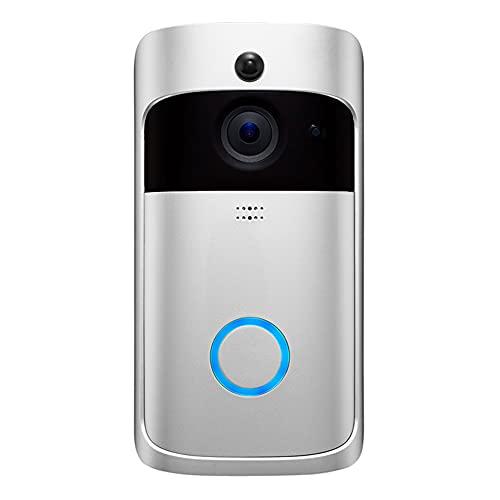 Jiaojie Inalámbrico WiFi Video Timbre De Puerta Teléfono Inteligente Anillo De La Puerta Intercomunicador Cámara De Seguridad