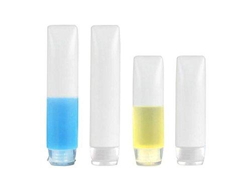 12 pcs clair rechargeable portable Plastique Souple tubes bouteilles à rabat avec Cap-lotion Maquillage Crème Boîtes de rangement Nettoyant visage Nettoyant Shampooing Douche support organiseur