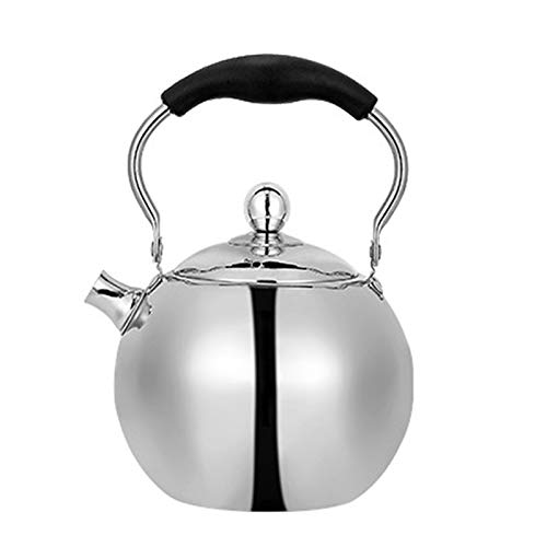 ASDFDG Stovetop kettle Whistling Gas Kettle Stainless Steel with Strainer Water Heater Shape Teapot Suitable for Home Outdoor Camping (Color : 2l)