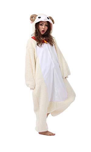 Kigurumi pyjamma Mouton grenouillère adulte - Blanc - Taille Unique