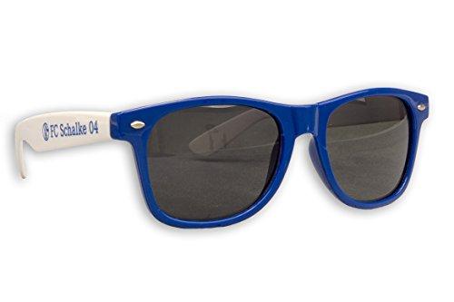 Blueprint Cologne FC Schalke 04 Sonnenbrille S04 Fanbrille Verschiedene Varianten (Ohne Logo Blau-Weiß)