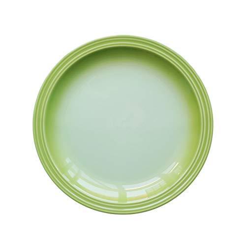 BXU-BG Creativa Plana Placa de cerámica Vajilla Inicio Filete de Desayuno Pasta Plato Plato de Pescados Placa del Esmalte del Color Degradado Placa de cerámica Verde del gradiente de 13 Pulgadas