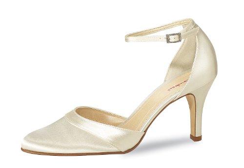 Elsa Coloured Shoes Rainbow Brautschuh Amanda 7 cm, Creme 41