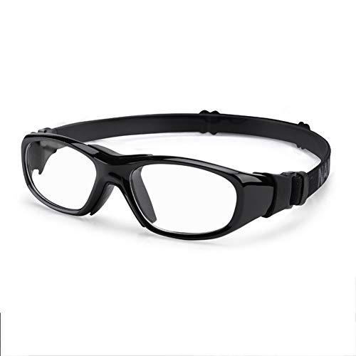 YUI Sportbrille Fahrradbrille Herren und Damen Radsportbrill Erwachsene Sport Radbrille Windschutz Brille Motorradbrille Rahmen PC Basketball Fußball,Schwarz
