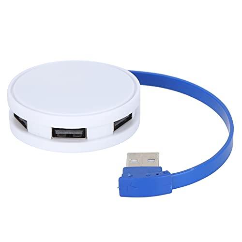 PUSOKEI Concentrador expansor USB, Adaptador Divisor multipuerto USB de Forma Redonda con protección portátil Liviana y contra Cortocircuitos incorporada, Divisor USB para Transferencia de Archivos
