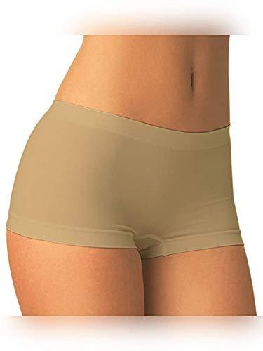 Carin Culotte Microfibra, Boxerino Shorts Danza Donna Pantaloncino Elasticizzato Traspirante Set 2 Pezzi (Bianco Large/Extralarge (46-48))