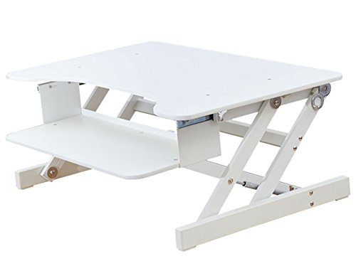 """Rocelco 32"""" Height Adjustable Standing Desk Converter 