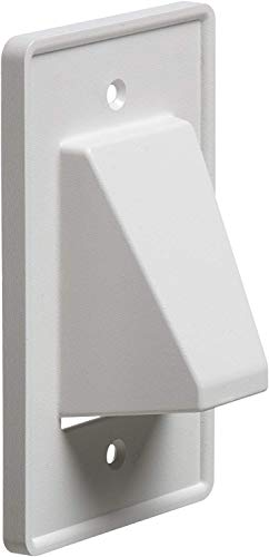 Arlington CE1-1 Recessed Cable Wall Plate, 1-Gang, White