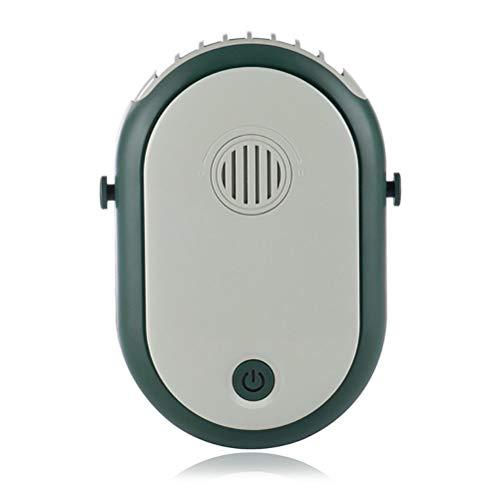 Delaspe - Ventilador colgante con USB para el cuello, portátil, recargable, con correa ajustable para camping, viaje al aire libre