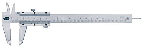 Standard Gage 00514022 Nonius-Messschieber aus Kohlenstoffstahl mit rundem Tiefenmessstab, 0 mm - 150 mm, 0.02 mm