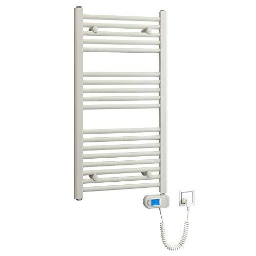 Kibath L494503 Toallero Secatoallas eléctrico Blanco TES 920x480. Bajo Consumo 500W, Fabricado en Acero Lacado 18 Tubos