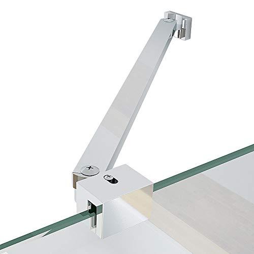 Stabilisierungsstange Haltestange Stabilisator für Duschabtrennung Wandhalterung Edelstahl 35 cm